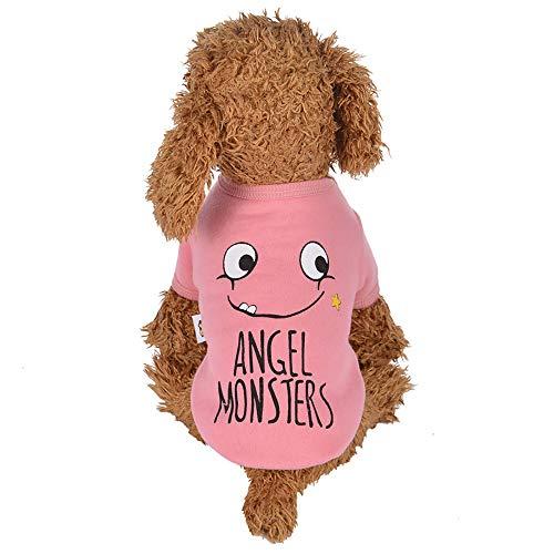 Ropa para Mascotas,Gusspower Chaqueta de Terciopelo Ropa de Abrigo Invierno con Estampado de Emoticonos Divertidos Suéter cálido cómodo con para Mascotas Gato Perro
