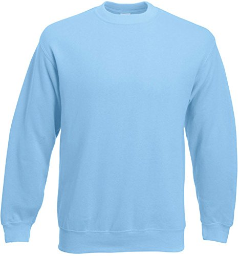 Fruit of the Loom - Set-In Sweatshirt - sky blue - Größe: S