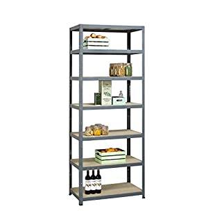 avasco Strong Tower High Shelving Unit 7 Shelves Size: L