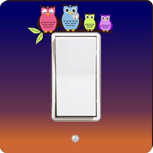 Rikki Knight Night Owls Single Wippe Licht Teller (Wall Plate-nacht-licht)