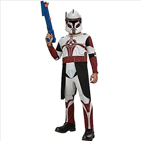 Star Wars Clone Wars Cone Trooper Commander Fox Child Costume Size: Large (10-12)