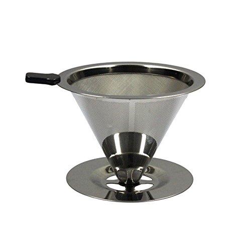 Toruiwa Kaffeefilter Permanenter Kaffee Filter aus Edelstahl wiederverwendbare Teefilter Silber