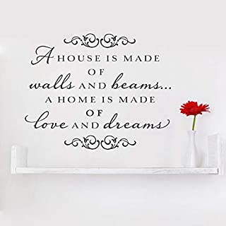 Wandaufkleber, Vinyl, Motiv: A House is Made of Walls and Beams A Home is Made of Love and Dreams