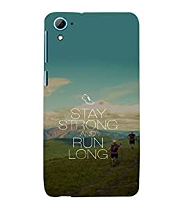 printtech Cool Quotes Life Back Case Cover for HTC Desire 826::HTC Desire 826 Dual
