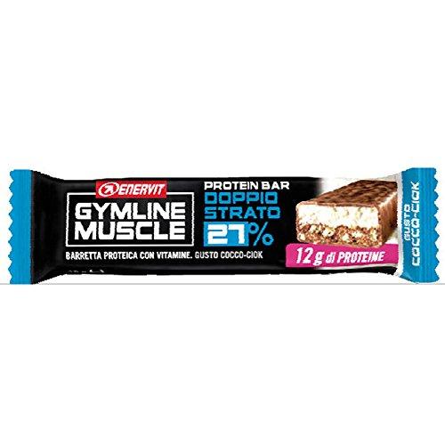 Enervit Gymline Muscle protein bar 27% doppio strato Gusto Cocco-Ciok confezione da 28 barrette