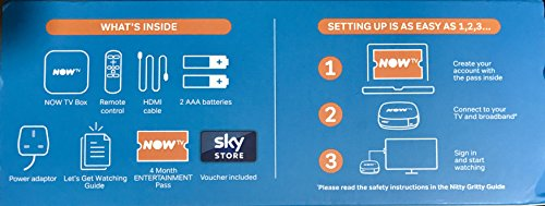 NOW TV Box with 4 Month Entertainment Pass and Sky Store Voucher