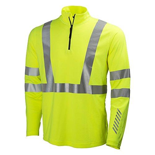 Helly Hansen Workwear protezione Maglietta a maniche lunghe Esbjerg polo Zip Longsleeve, Giallo, 75019