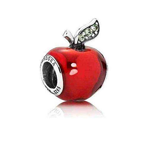 Pandora Disney Snow White\'s Red Apple Charm Sterling Silber, Cubic Zirconia, Emaille 791572EN73