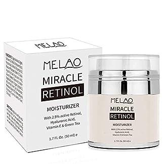 Crema hidratante retinol, UWIME, antienvejecimiento, Majestic Pure Retinol, crema para cara y ojos, retinol 2,5 %, ácido hialurónico, vitamina E y aceite de jojoba
