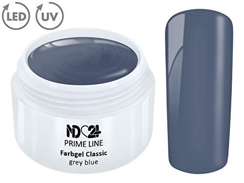 5ML - PRIME LINE - Color UV Gel LED FARBGEL GRAY BLUE French Modellage Nail Design Nagel Grau Blau - MADE IN GERMANY