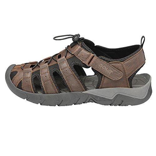 Gola All' aperto da trekking sandali da passeggio Shingle 2punta chiusa scarpe da escursionismo leggero, (Brown Black), XL Taglia