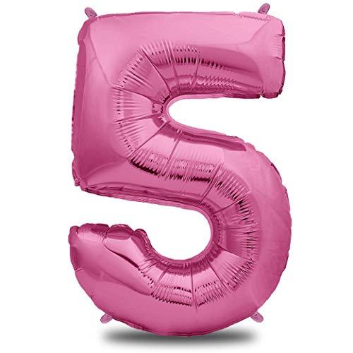 n 5 Pink | Riesen Zahlen-Luftballon | 40