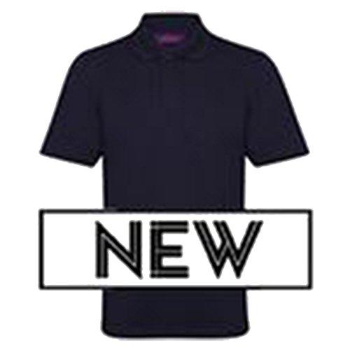 Henbury Herren Modern Poloshirt Oxford Navy