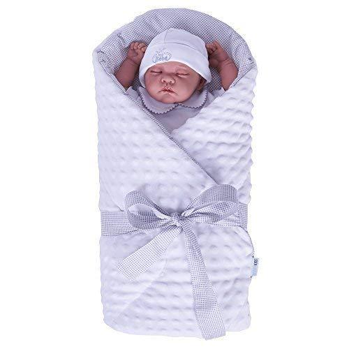 Sevira Kids - Gigoteuse d'emmaillotage multi-usage - Nid d'ange naissance Minky Blanc