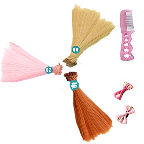 Fully 3stk. Puppen-Perücke Glattes Haarteil Haarperücke 15cm/5.9