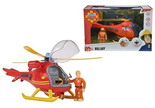 feuerwehrmann sam helikopter Simba Feuerwehmann Sam Hubschrauber mit Figur