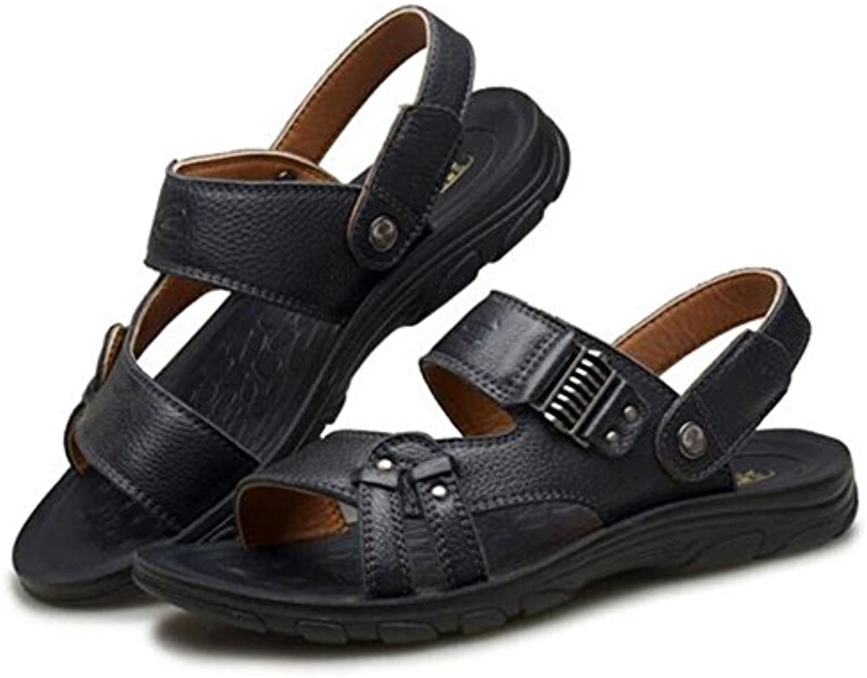 Hombres Zapatos Sandalias Cuero Genuino Beach Summer Open Toe Chanclas Zapatillas Casual Antideslizante Tamaño...