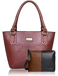 JFC Women's Leather Handbag And Sling Bag Combo(Hs-Combo-JBR-11-)