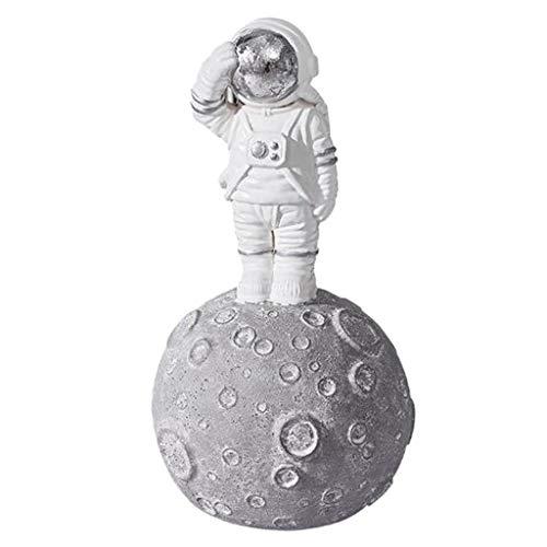 FLAMEER Figura de Astronauta en Luna de Simulación en Miniatura Regalo de Cumpleaños Recuerdo para Niños Adultos - #B