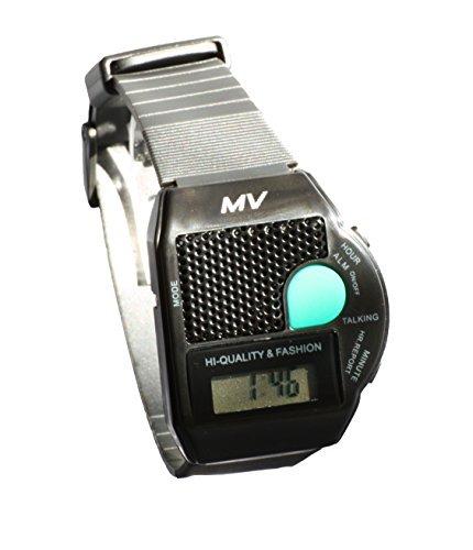 Sprechende Armbanduhr Big Button Schwarz Blindenuhr ALARM Wecker Senioren Uhr sc