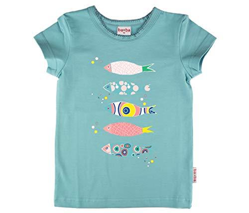 Baba Girl T-Shirt Fish Light Blue Jersey Single digital Plain 74