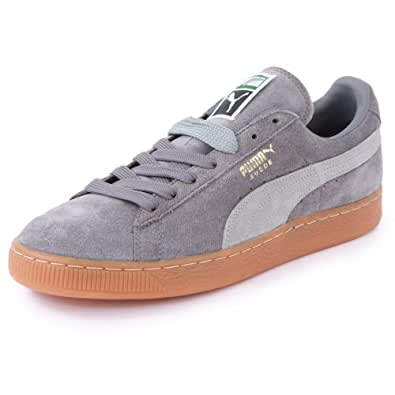 Puma Suede Classic 356568 25 Mens Laced Suede Trainers Grey - 7