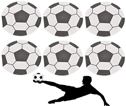 jameitop®⚽ Notizblock 6 X Fußball Notizbuch / Ball Blöcke Ø 8 cm ⚽