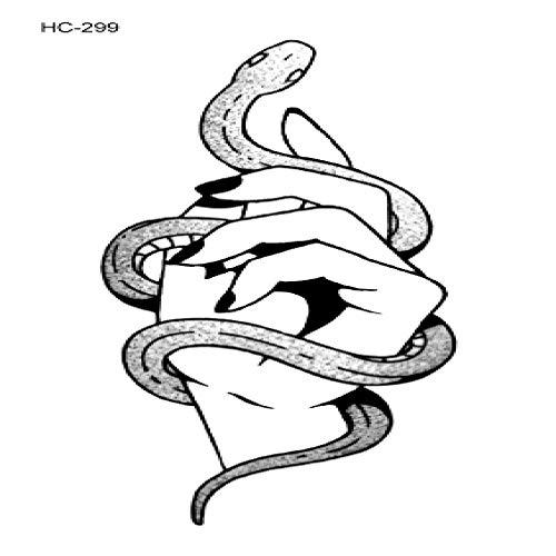 adgkitb 5 stücke Ballett Schwarz Weiß Blumen Tattoos Aufkleber Temporäre Zeichnung Kunst Gefälschte HC-299 10,5x6 cm