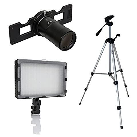Opteka Slide Copier Studio Lighting Kit für Nikon 1J5, J4, V3, V2, V1, J3, J2, J1, S2, S1und AW1Mirrorless Digital Cameras