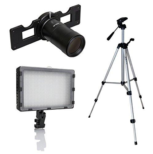 Opteka Slide Copier Studio Kit di illuminazione per Sony NEX A6000, A5000, 7, 6, 5, 3, 3N F3, A7, A7R e A7S Mirrorless fotocamere digitali