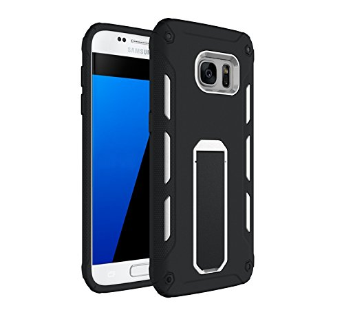 YHUISEN Galaxy S7 Edge Case, Cool Shockproof Rüstung Hybrid 2 In1 TPU und PC Rugged Dual Layer Mit Kickstand Fall für Samsung Galaxy S7 Edge ( Color : Green ) White