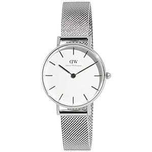 Daniel Wellington Petite Sterling – Reloj de plata de 28 mm, malla