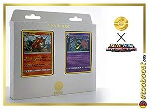 Cacturne 6/111 Y Mammochon (Mamoswine) 21/111 - #tooboost X Soleil & Lune 4 Invasion Carmin - Box de 10 Cartas Pokémon Francés + 1 Goodie Pokémon