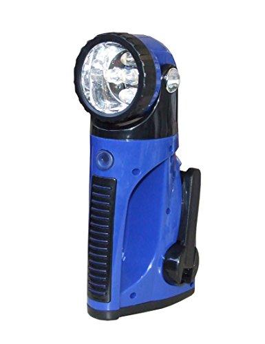 Dynamo Standlampe Praktische Taschenlampe mit 3 Ladefunktionen (Blau)
