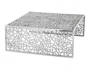 Omaha - Table basse design en aluminium poli