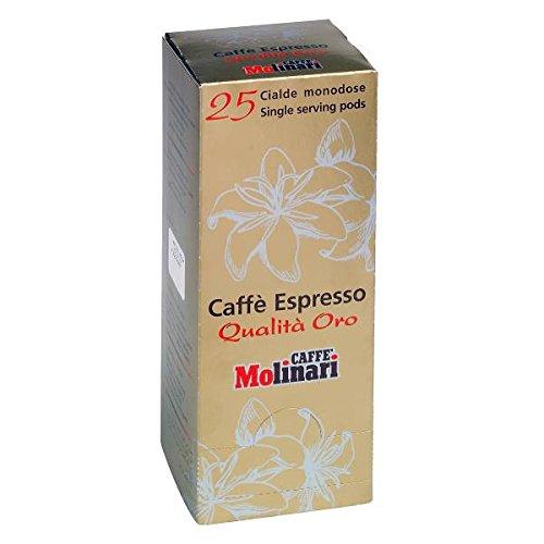 Choose Caffè MOLINARI Coffee - Espresso Qualità Oro - SINGLE SERVING ESE 44mm Pods - 2 x 25 ESE pods (TOTAL = 50 ESE pods) by Caffè Molinari S.p.A., ITALIA