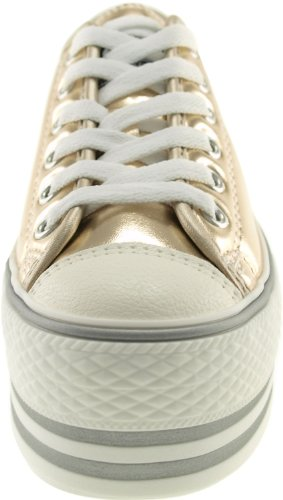 Maxstar Tc ouro loch Trendy C50 top 6 Plattform Sneakers Low d7vxwCq4