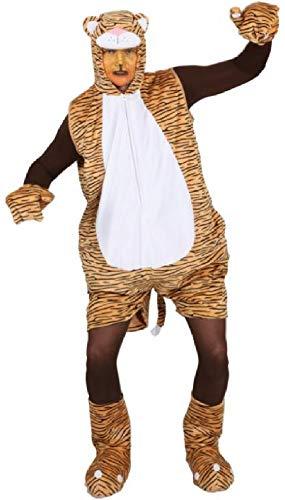 O7423-54-58 Herren Tiger Kostüm Raubtier Raubkatzen Overall ()