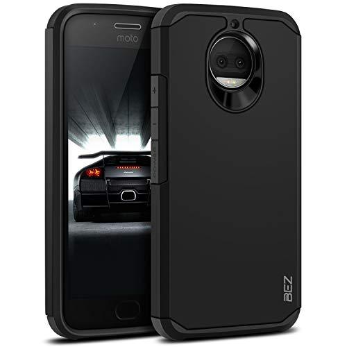 BEZ Funda Moto G5s Plus, Carcasa Compatible para Motorola Moto G5s Plus, Antideslizante Ultra Híbrida Gota Protección, Cover Anti-Arañazos con Absorción de Choque Resistente, Negro