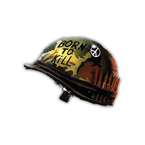 Copytec A1734 Sticker autocollant « Born to Kill » (né pour tuer) du film Full Metal Jacket, 7 x 5 cm