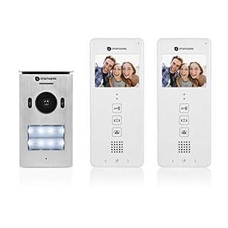 Smartwares DIC-22122 Video-Türeingangskontrolle – 480p – 3,5 Zoll LCD-Monitor – Set für 2 Wohnungen