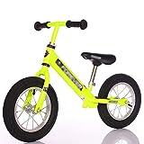 Laufrad Pedal, Verstellbarer Sitz und Lenker Spaziergänge, für 2 bis 6-jährige Jungen-Mädchen (Farbe : Gelb)