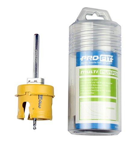 PRO-FIT Multi-Purpose-Lochsäge Ø68mm mit 50mm Nutzlänge - inklusive Lochrand-Senker und Zentrierbohrer - mit Click&Drill Aufnahme