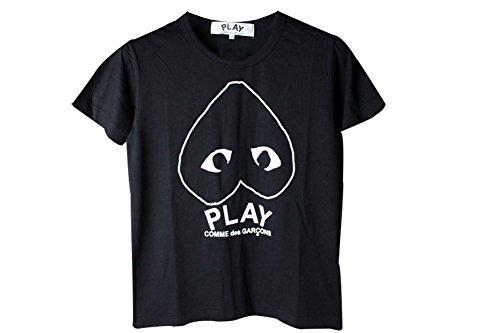 BOMOVO Herren PLAY T-Shirt, Graphic Set-In Neck Schwarz