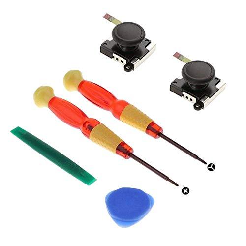 Change Repair Tool Für 3D Wippen, Webla, 3D Analog Sensor Stick Joystick Ersatzteile Kits Für Schalter Ns Joy-Con, Abs 0 Schwarz (Schwarz)
