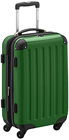 HAUPTSTADTKOFFER - Alex - Carry on luggage Suitcase Hardside Spinner Trolley Expandable 55 cm Green