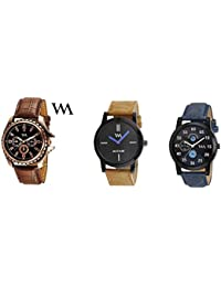 Watch Me Gift Combo Set For Him/Watches For Men/Watches For Boys (watches 3 Combo/watches 2 Combo) WMC-002-BR-AWC... - B0778LHYW4