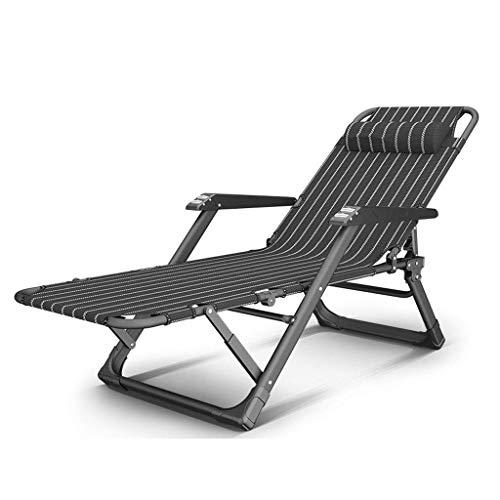DBCSD Patio-stützende Stühle, Schwerelosigkeits-Stuhl-tragbarer Balkon-Freizeit-Haushalts-Bett-Lehnsessel-faules Sofa (Farbe: A) (Bett, Massieren Kissen)