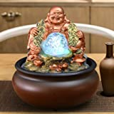SPYXGS Maitreya-Wasserbrunnen Feng Shui-Ballverzierungen Der Chinesischen Art Dekorieren Hauptdekorationen Büroöffnungschreibtischmöbel A