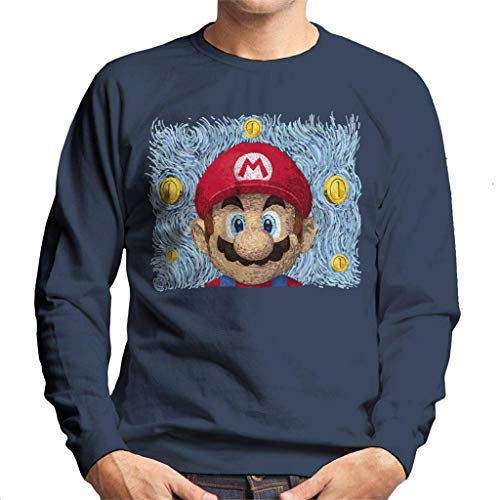 Mario Van Gogh Bros Men's Sweatshirt